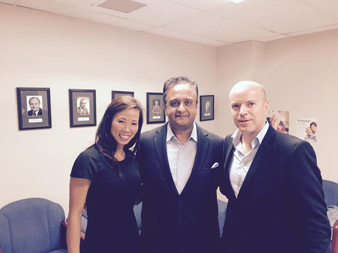 Darren Pedersen, wife Leanne Pedersen, and Dr. Manoj Raval