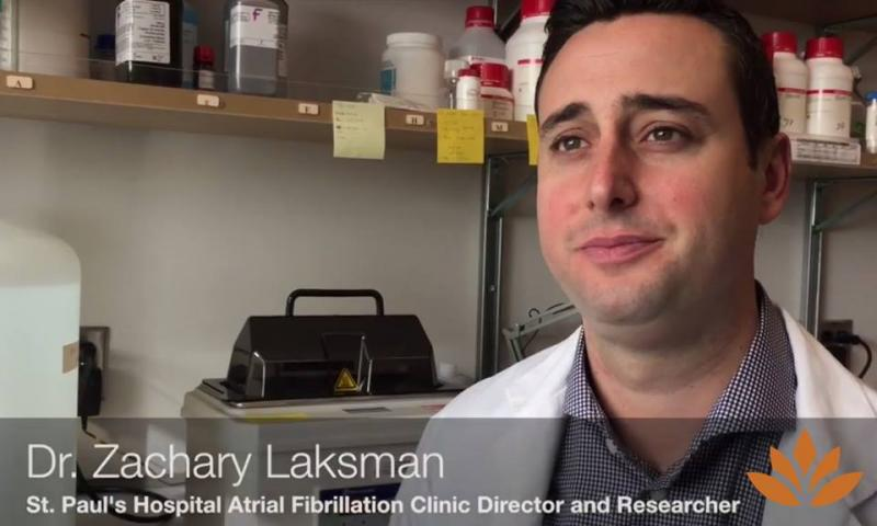 Dr. Zachary Laksman, Atrial Fibrillation Clinic Director and Researcher.