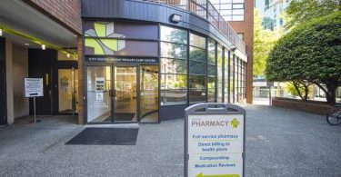 City Centre Urgent Primary Care Centre at 1290 Hornby Street. near Providence Health Care. Photo Courtesy of the Vancouver Sun.
