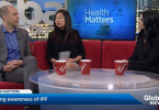 Actress Gelsea Mae and Dr. Chris Ryerson of St. Paul's Hospital explain what IPF (Photo Credit: Global News)