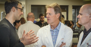 Dr. Jim Russell (centre) is the world's top expert in septic shock, according to Expertscape.com. Photo: LifeSciences BC