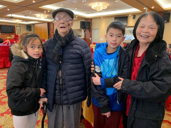 Mr. and Mrs. Tam with two of their grandchildren. Now, just in time for valentine's day, they are able to continue to spend quality time together.