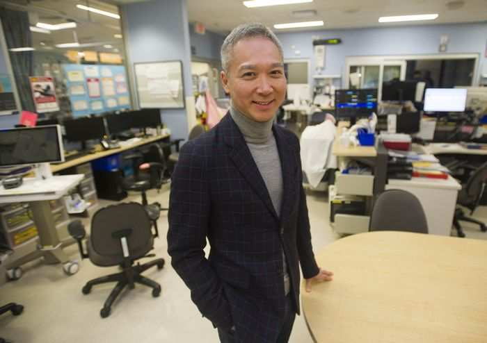 Dr. Anson Cheung of St. Paul's Hospital performed four heart transplants in 60 hours last fall. (Photo courtesy of Jason Payne / The Vancouver Sun.)