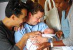 New mom at St. Paul's Hospital maternity clinic