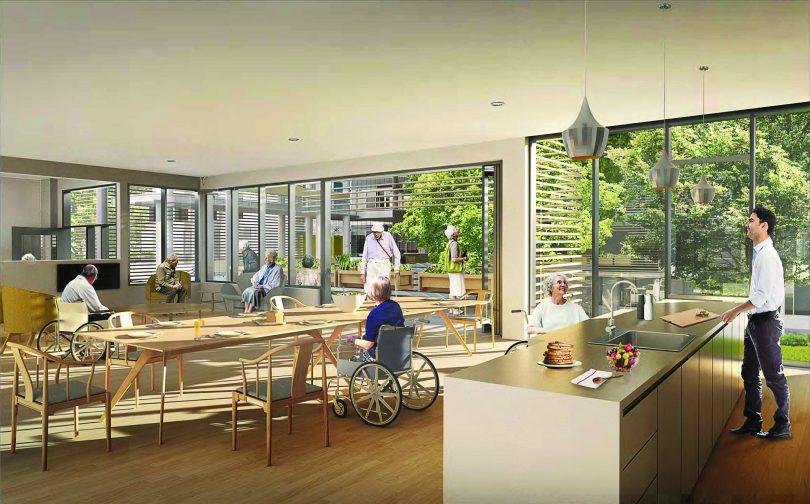 The dementia village is a Dutch model for seniors care.