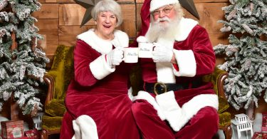 Santa and Mrs. Claus will stay safe from COVID.