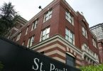 The St. Paul's Hospital site on Burrard Street in Vancouver is among the most endangered sites in Vancouver, according to a local preservation group (Photo credit: Global News)