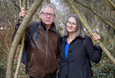 Tony Wanless with wife June Hutton